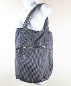 H&M Divided, Navy/White Striped Tote Bag